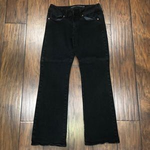 American Eagle Black Kick Boot Stretch Jeans